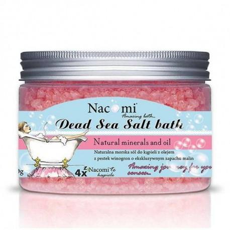 Sól z Morza Martwego malina, 450g, Nacomi