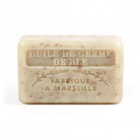 Mydło marsylskie z masłem shea i olejem z kiełków pszenicy, 125g, Foufour