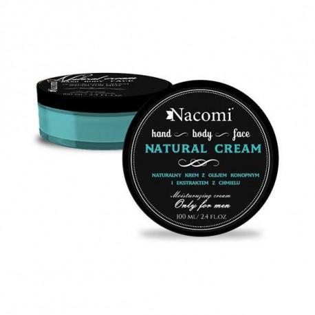 Nacomi Natural Cream naturalny krem z olejem konopnym 100 ml
