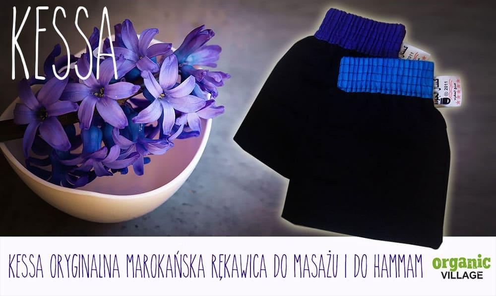 Kessa. Oryginalna rękawica do masażu i peelingu z Maroka