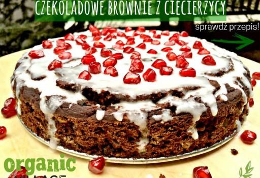 Wegańskie czekoladowe brownie z ciecierzycy