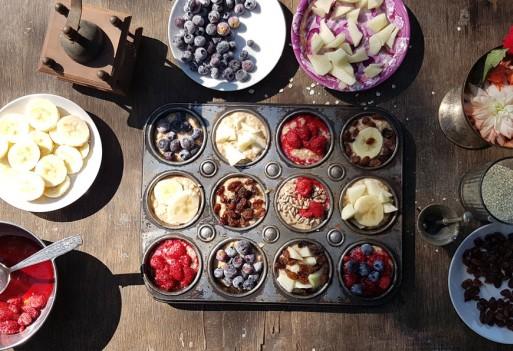 Muffiny owsiane z owocami