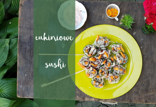 """Cukiniowe """"sushi"""" - pełny przepis wraz z filmem"""