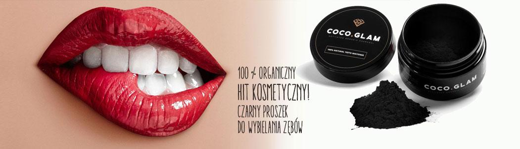 Coco Glam Czarny proszek do wybielania zębów - 100% naturalny