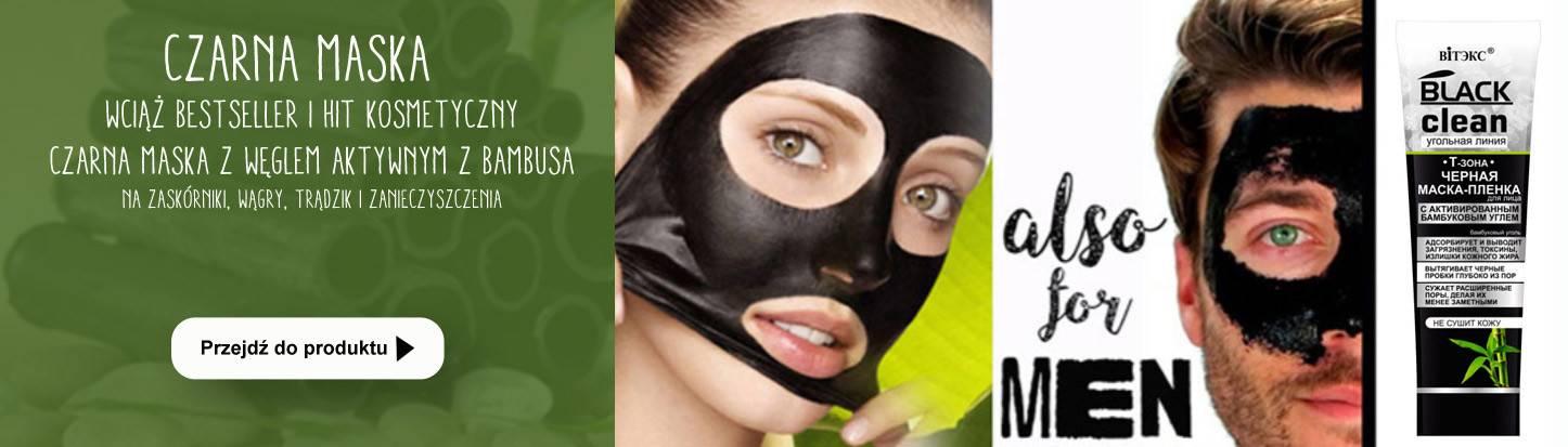 Czarna maska peel-off na wągry i zaskórniaki z aktywnym węglem