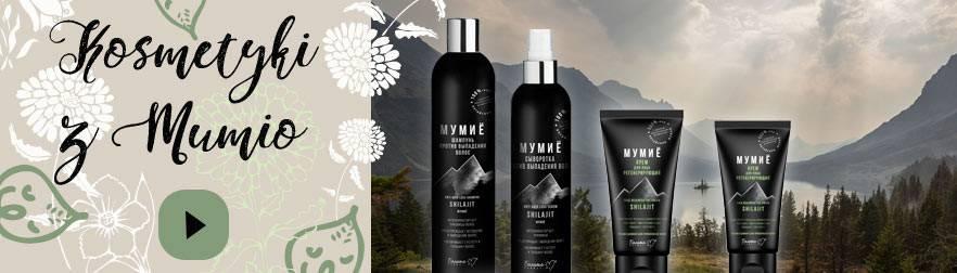 Kosmetyki z MUMIO: szampon na porost włosów, serum i kremy z mumio